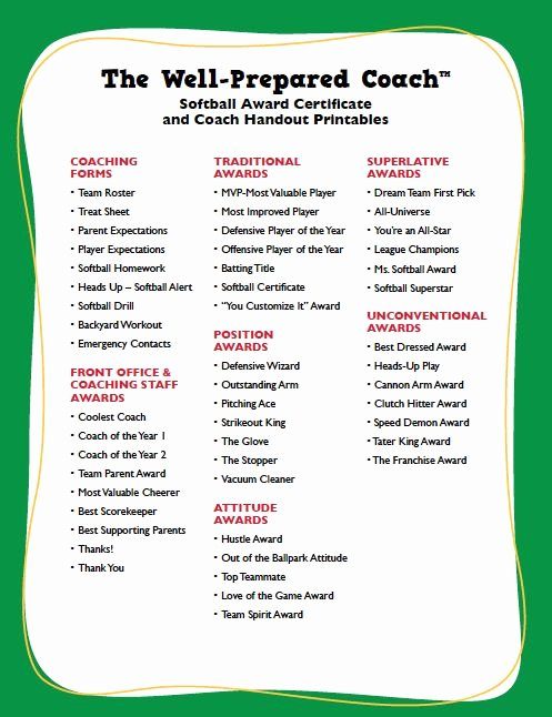 Softball Practice Plan Template New 25 Best Ideas About Sports Awards On Pinterest