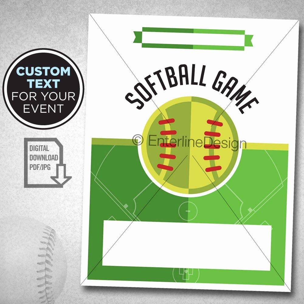 Softball tournament Flyer Template Beautiful softball tournament softball theme softball Birthday