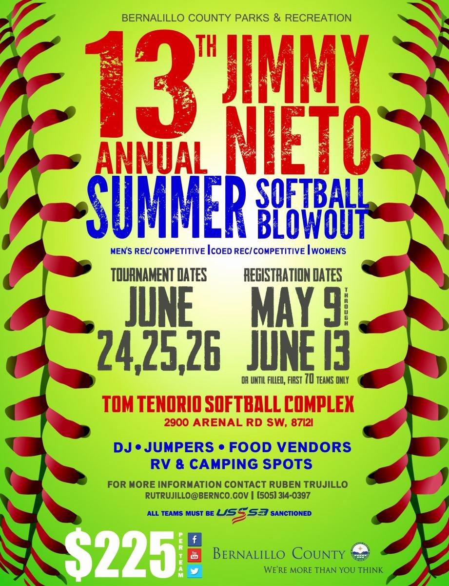 Softball tournament Flyer Template Elegant News