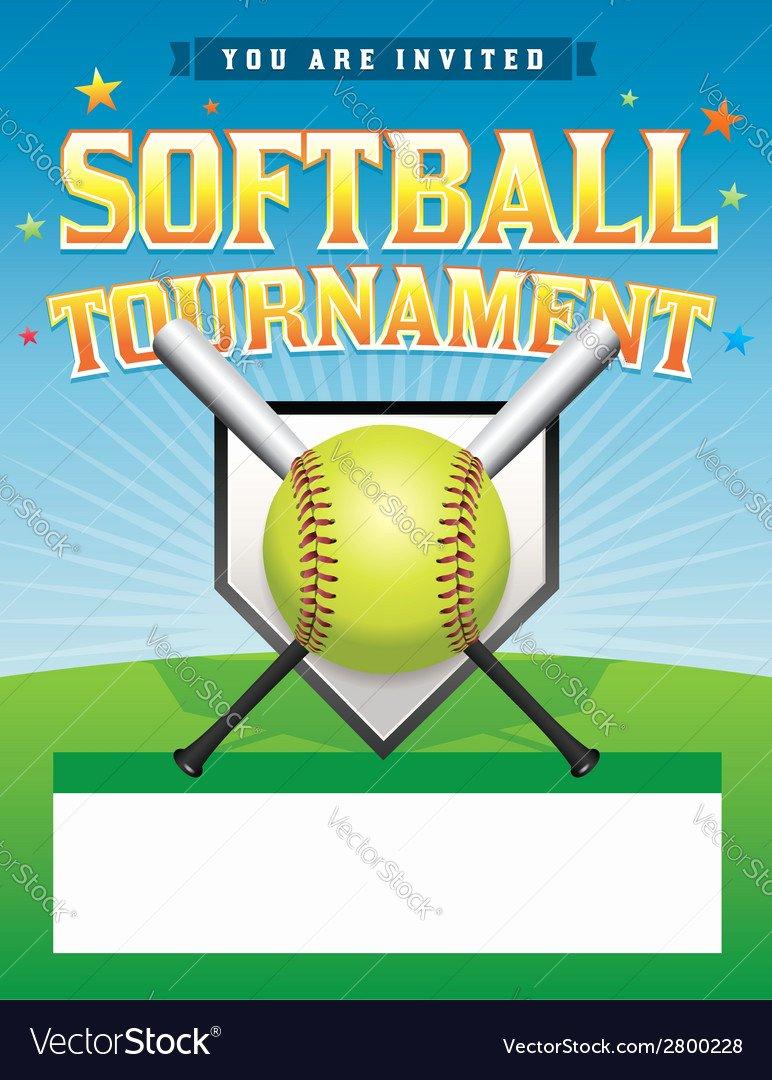 Softball tournament Flyer Template Elegant softball tournament Flyer Royalty Free Vector I and