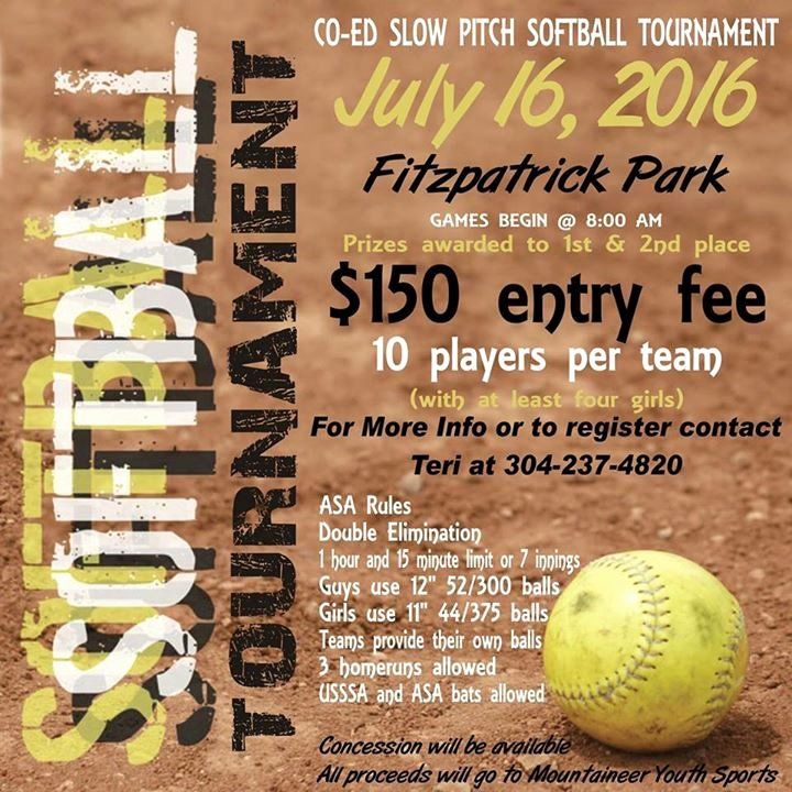 Softball tournament Flyer Template Inspirational Mountaineer Youth Sports Slowpitch softball tournament at