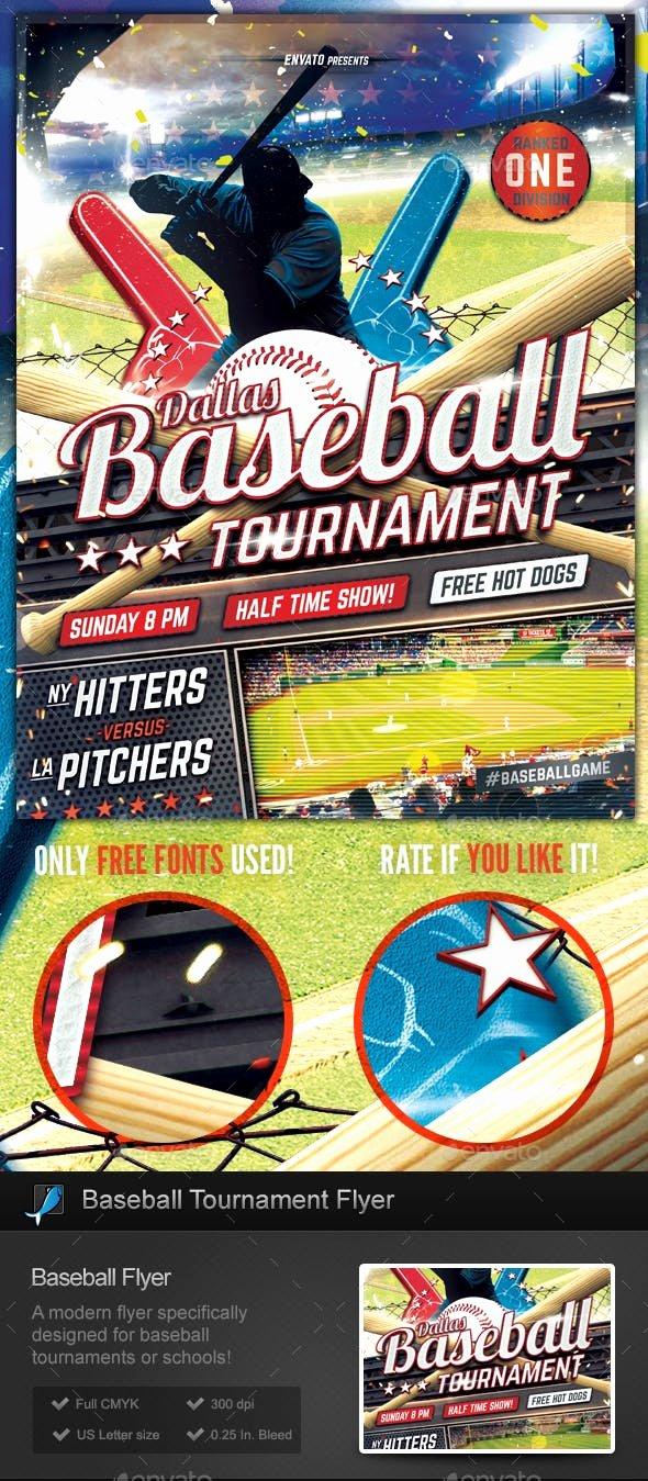 Softball tournament Flyer Template Lovely Baseball tournament Flyer Template by Stormdesigns