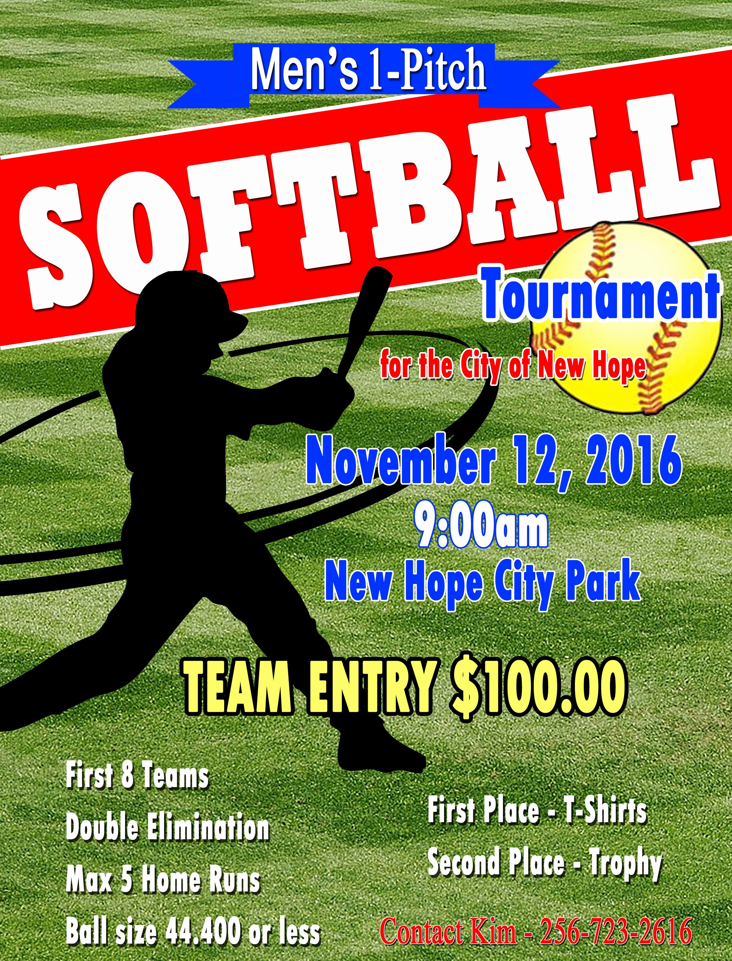 Softball tournament Flyer Template New City Of New Hope 1 Pitch softball tournament November 12th