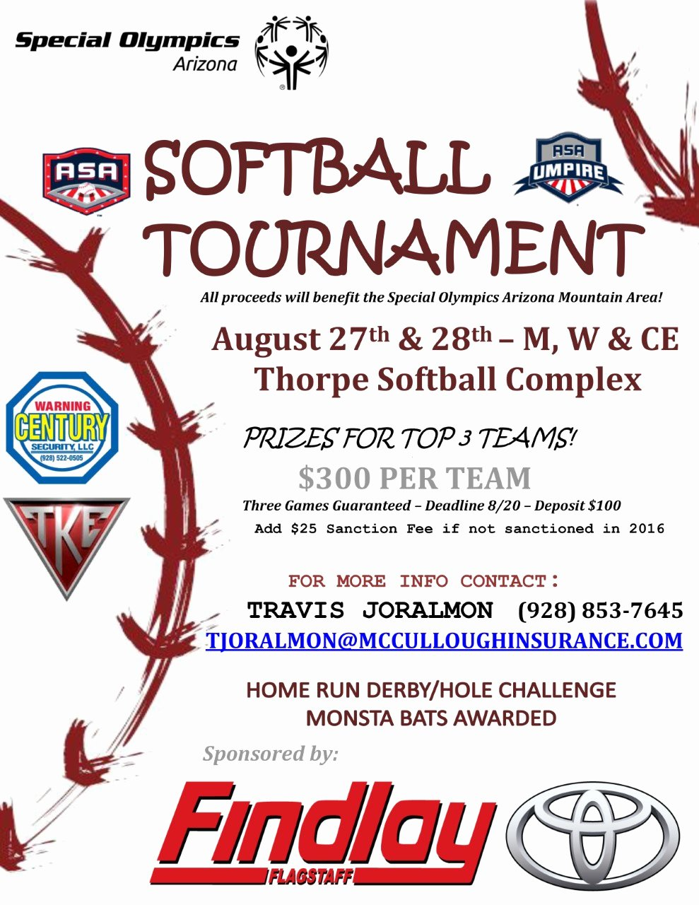 Softball tournament Flyer Template New Special Olympics Arizona softball tournament to Support