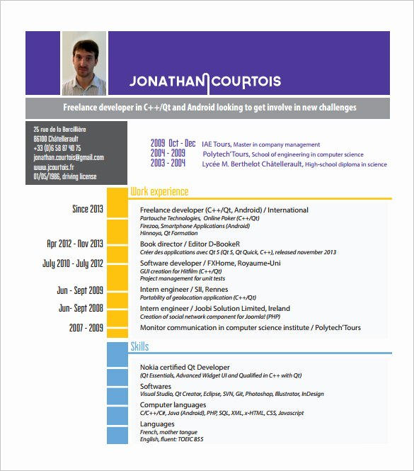 Software Developer Resume Template Inspirational software Engineer Resume Template Microsoft Word