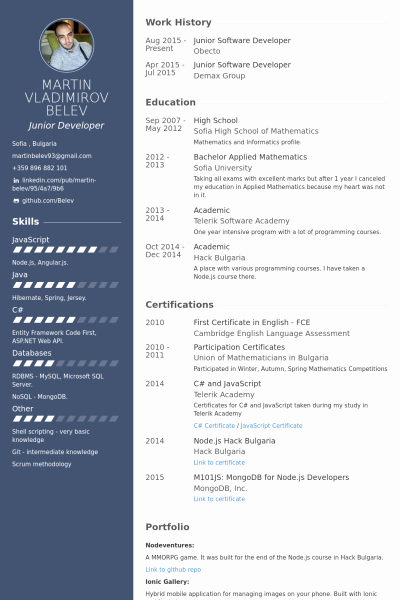 Software Developer Resume Template Lovely Junior software Developer Resume