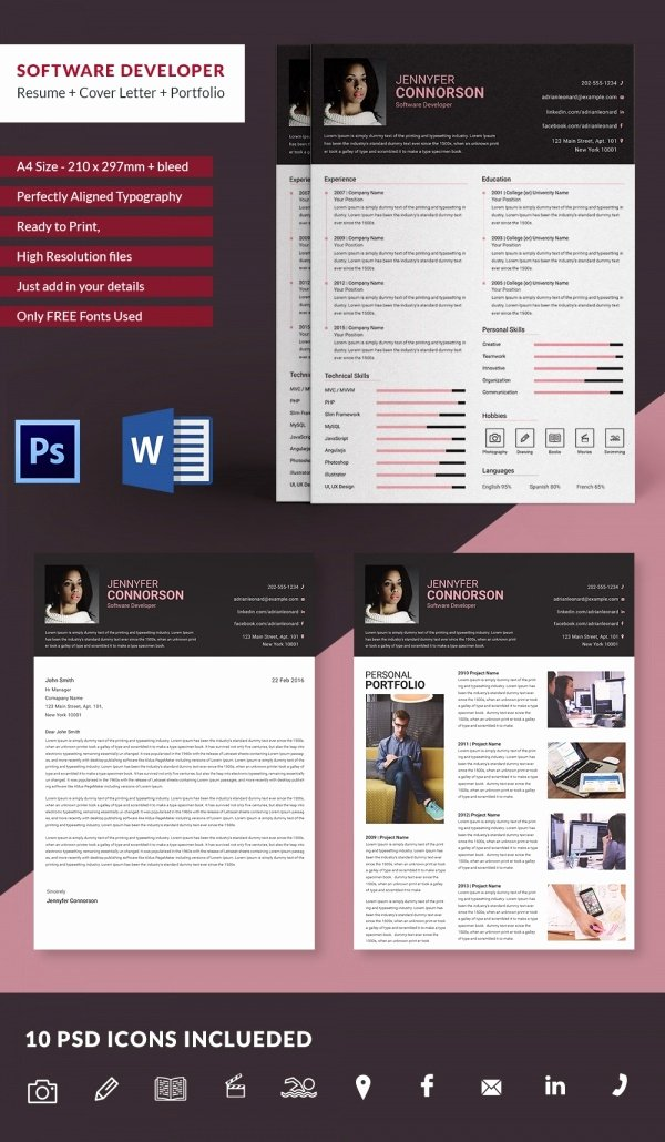 Software Developer Resume Template Lovely Mac Resume Template – 44 Free Samples Examples format