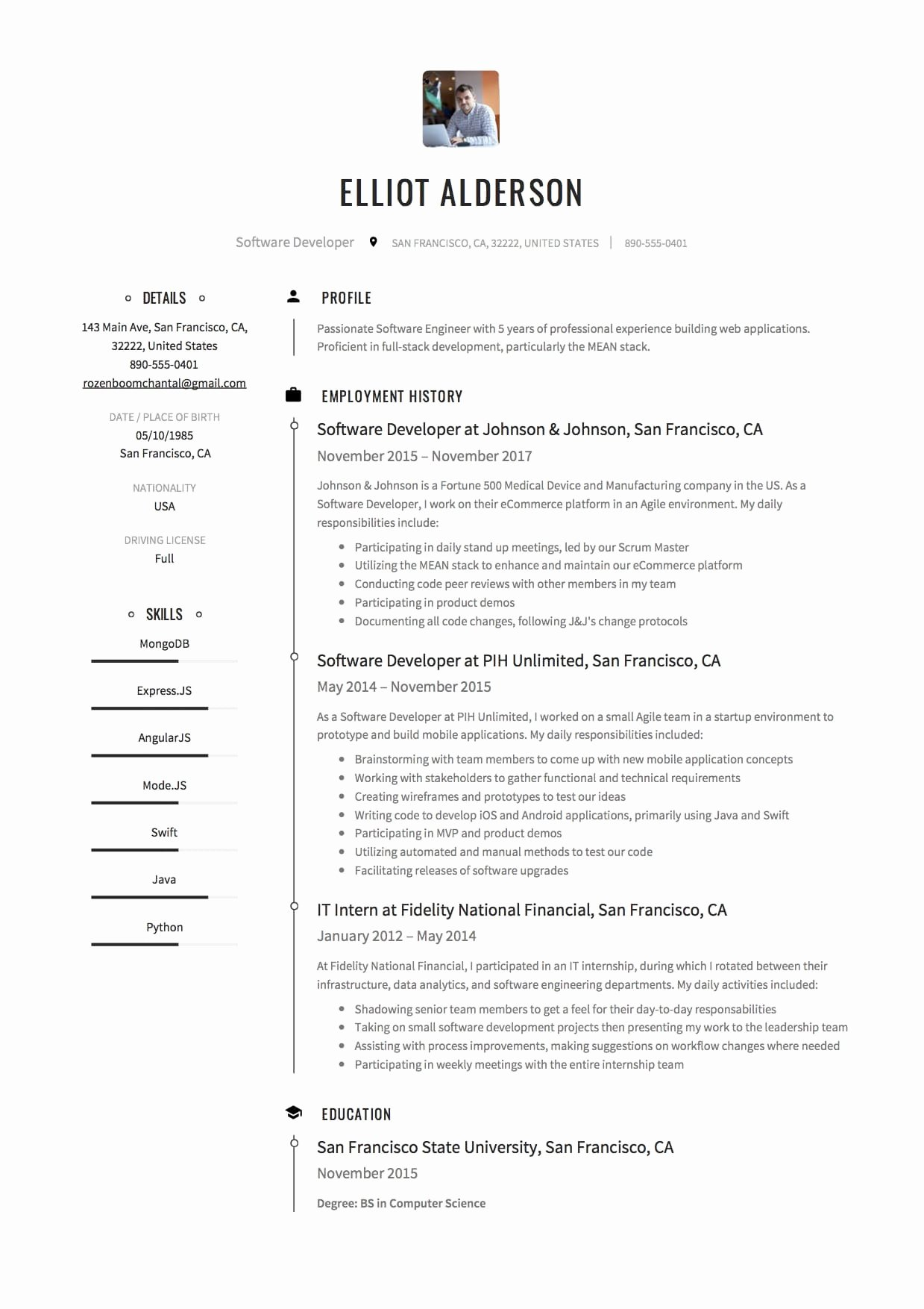 Software Developer Resume Template Luxury Pretty software Developer Resume software