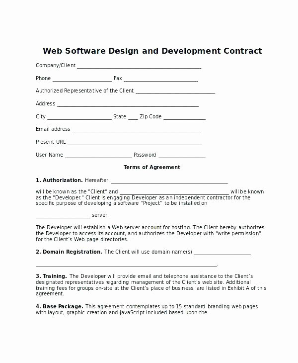 Software Development Contract Template Lovely software Development Agreement Template Australia App