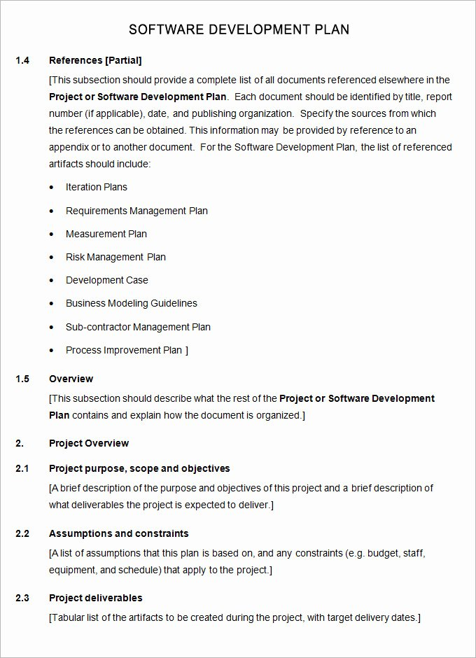 Software Development Plan Template Lovely software Plan Template 7 Free Word Pdf Excel