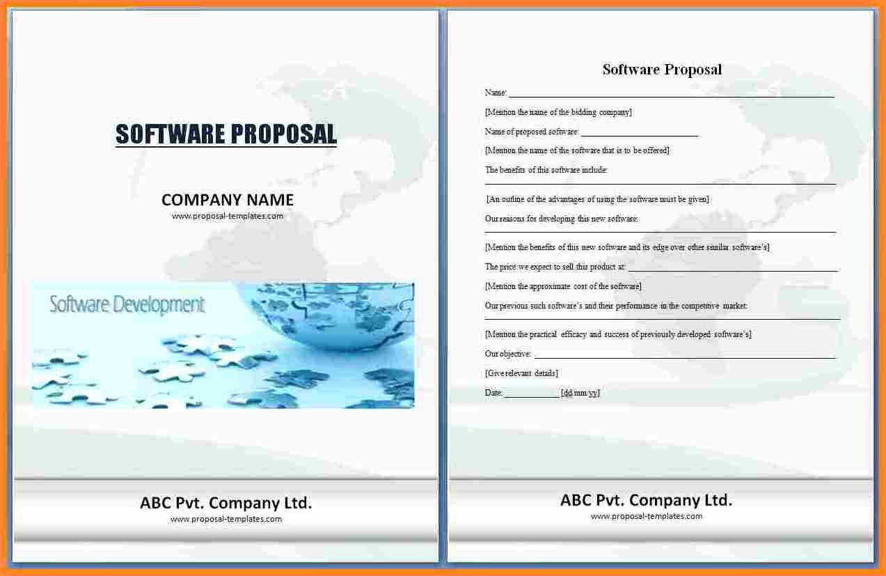 Software Development Proposal Template Luxury 5 software Project Proposal Samples