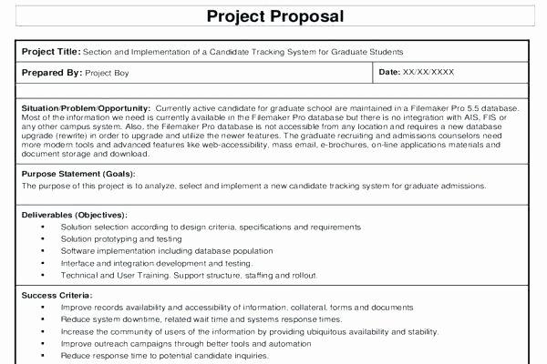 Software Development Proposal Template Unique Free Project Proposal Template Ms Word software