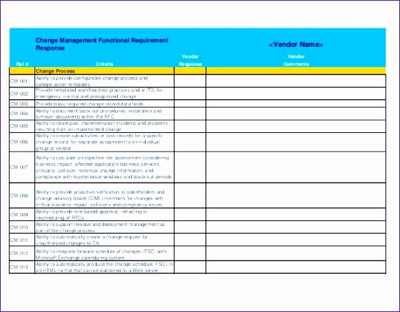 Software Evaluation Template Excel Luxury 10 software Requirements Template Excel Exceltemplates