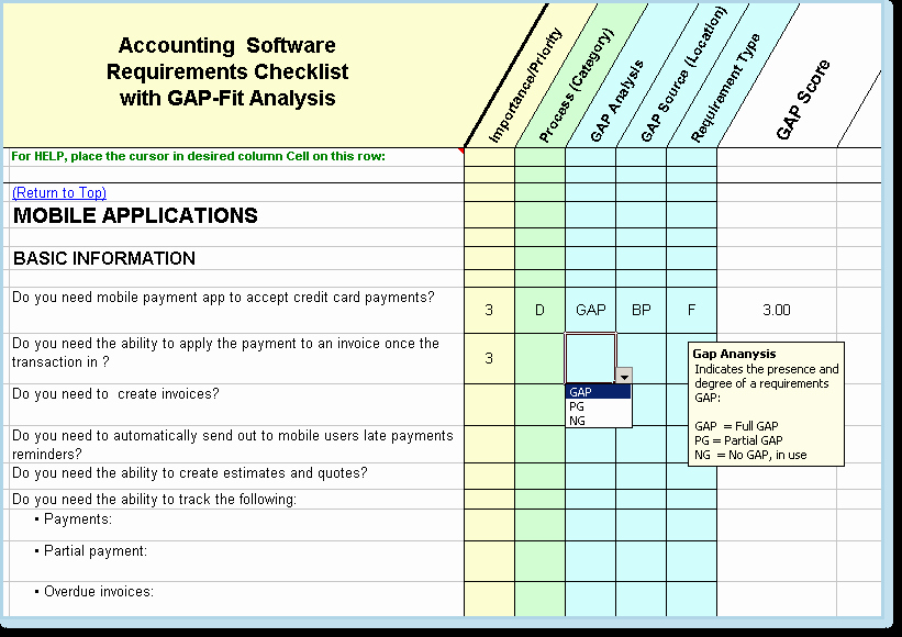 Software Gap Analysis Template Awesome software assessment Template Five top Risks software