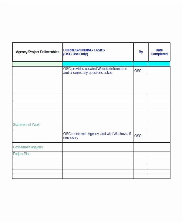 Software Implementation Plan Template Beautiful Project Management Template Deliverables Checklist
