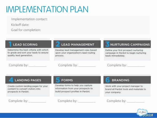 Software Implementation Plan Template Lovely Marketing Automation Success Planning Template