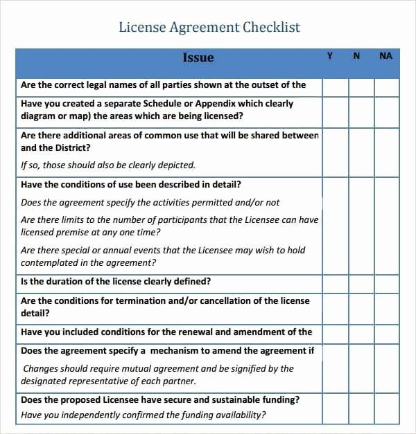 Software License Agreement Template Awesome 6 Free software License Agreement Templates Excel Pdf