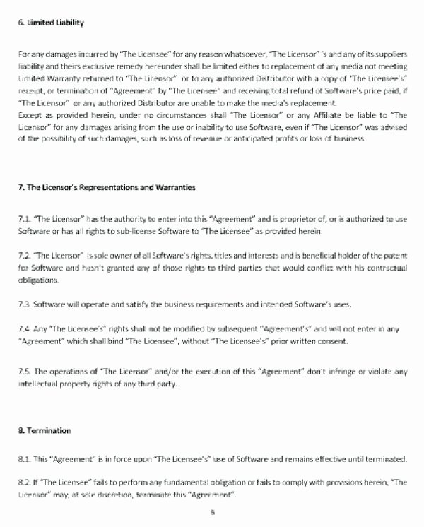 Software License Agreement Template Awesome An Example Bad is the Sample at Right End User License