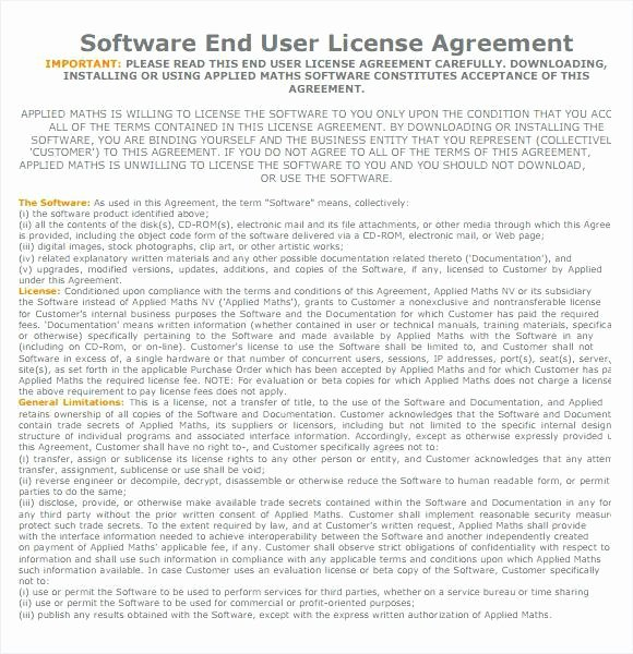Software License Agreement Template Awesome Sample software License Agreement Template