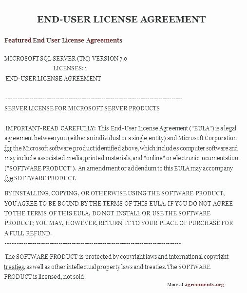 Software Licensing Agreement Template Awesome Sample software License Agreement Template