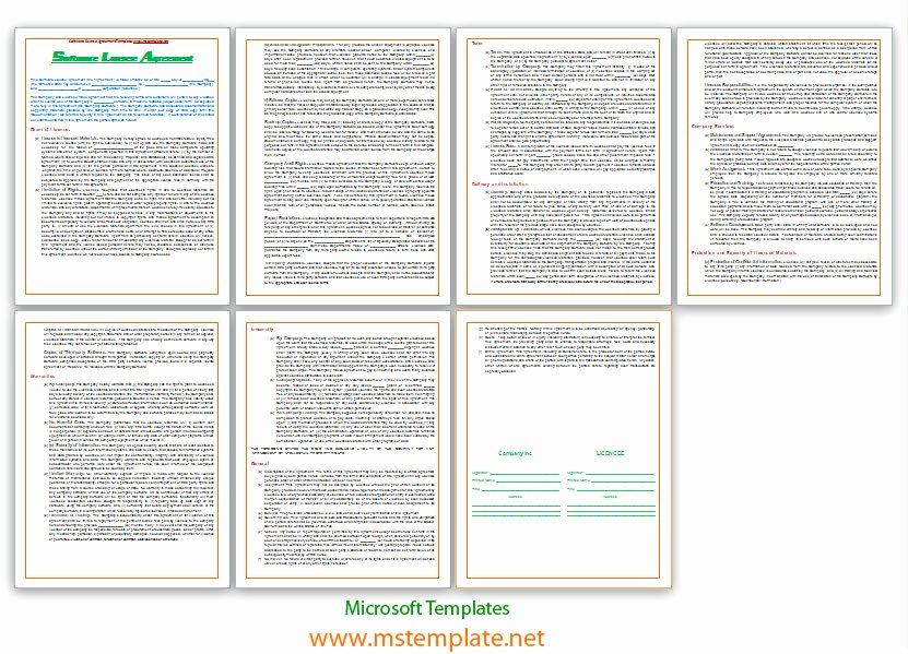 Software Licensing Agreement Template Awesome software License Agreement Template
