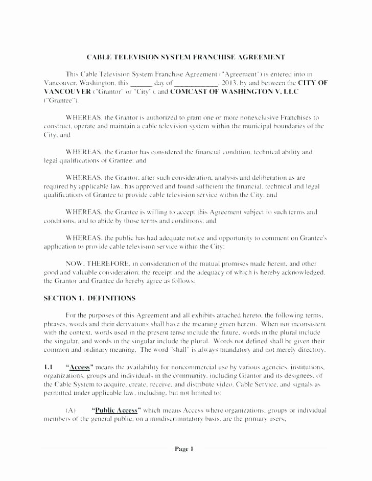 Software Licensing Agreement Template New Music Licensing Contract Template – Ilaps