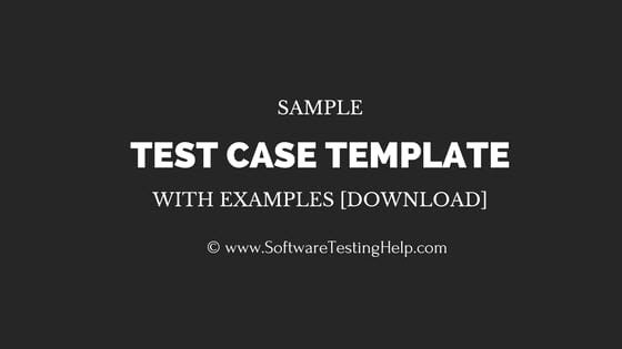 Software Test Cases Template Best Of Sample Test Case Template with Test Case Examples [download]