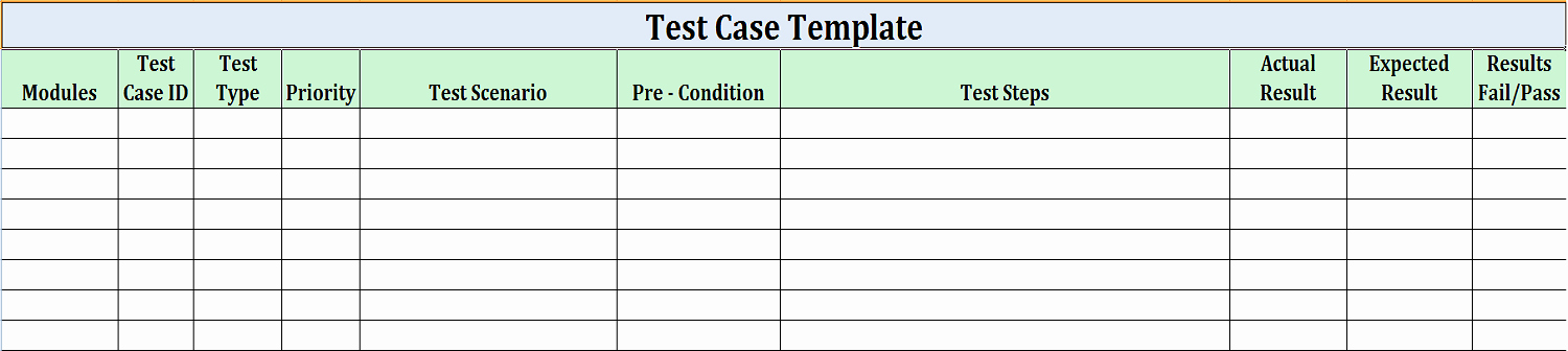 Software Test Cases Template Inspirational software Test Design Work for Quality