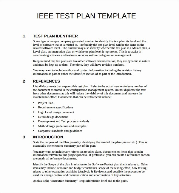 Software Test Plan Template Lovely 9 software Test Plan Templates