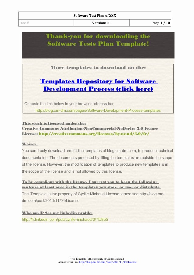 Software Test Plan Template Unique 03 software Test Plan Template