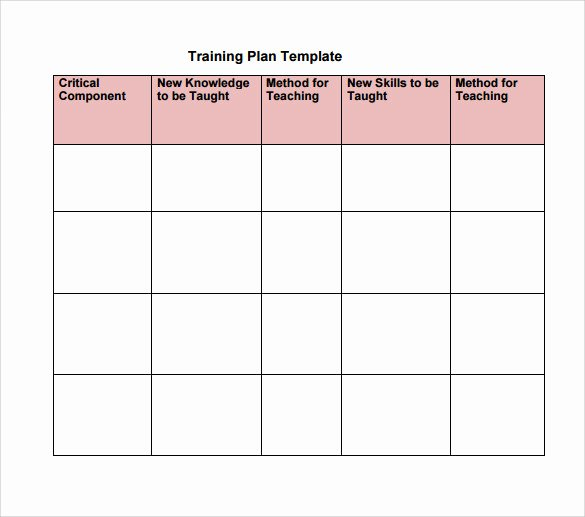 Software Training Plan Template Fresh Training Plan Template 19 Download Free Documents In