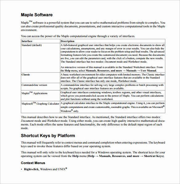 Software User Manual Template Fresh 27 Of software User Manual Template