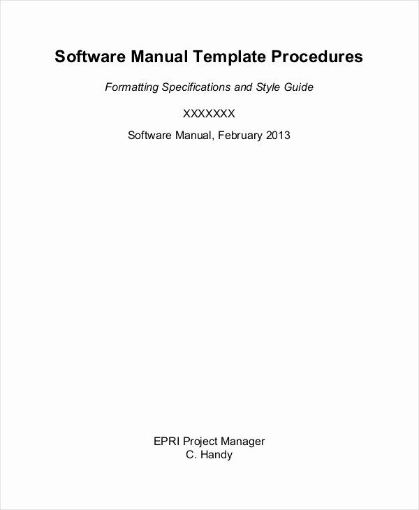 Software User Manual Template Inspirational Instruction Sheet Template 9 Free Word Excel Pdf