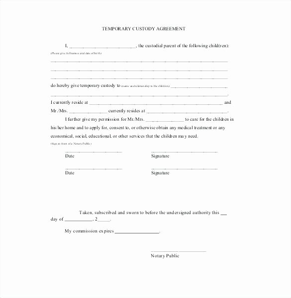Sole Custody Agreement Template Awesome Full Custody Agreement Template – Hazstyle