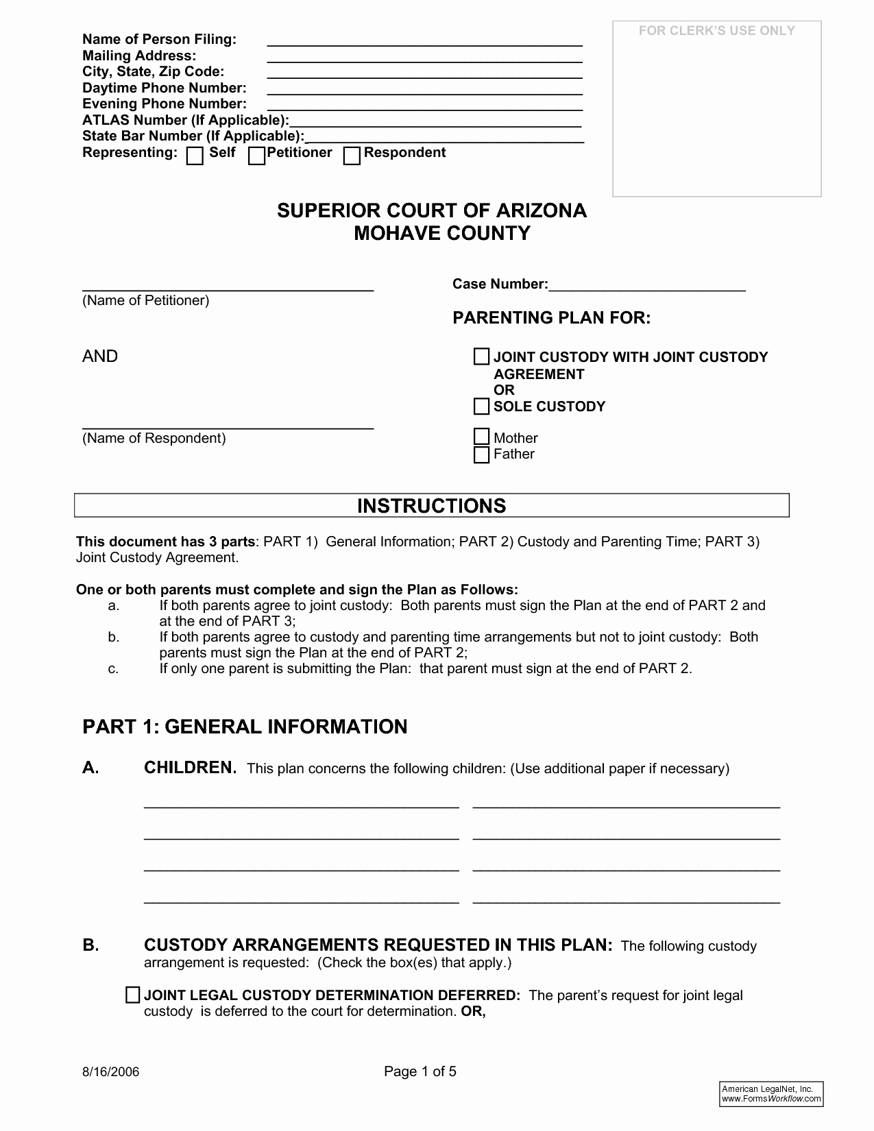 Sole Custody Agreement Template Fresh Best S Of Joint Agreement forms Sample Joint