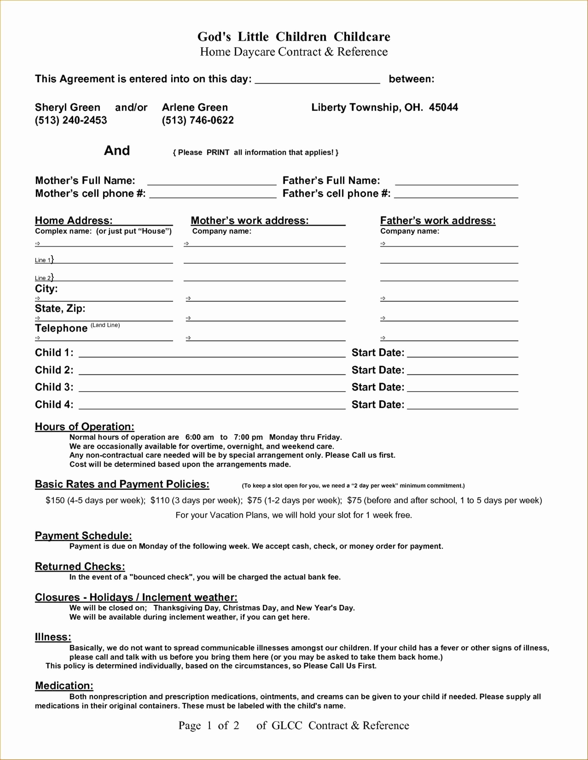 Sole Custody Agreement Template Inspirational sole Custody Agreement Template Templates
