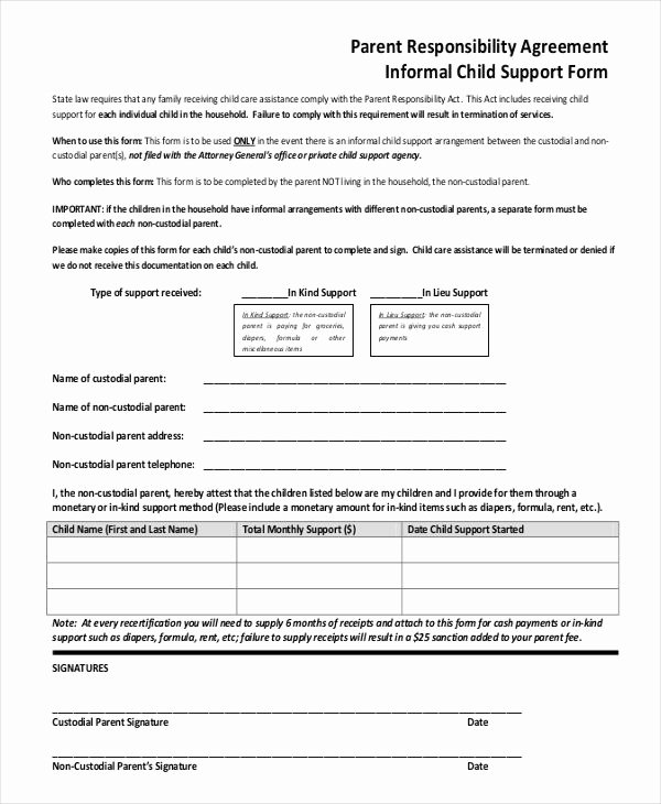 sole custody agreement template ontario