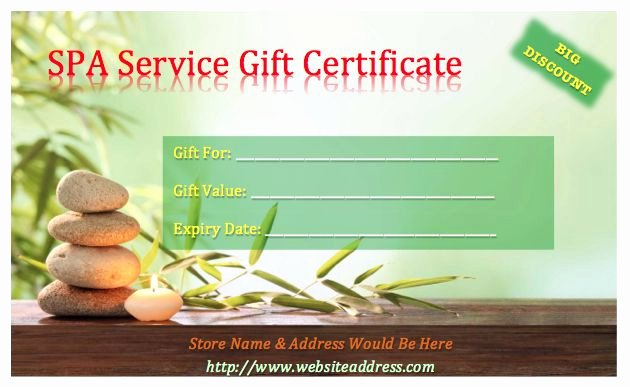 Spa Gift Certificate Template Awesome 1000 Ideas About Free Gift Certificate Template On