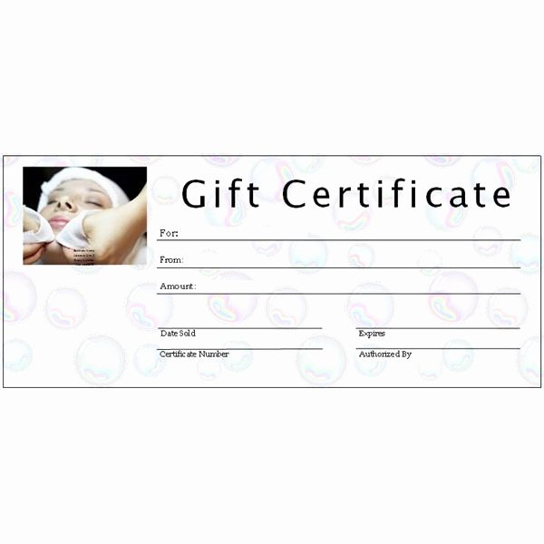Spa Gift Certificate Template Beautiful 6 Free Printable Gift Certificate Templates for Ms Publisher