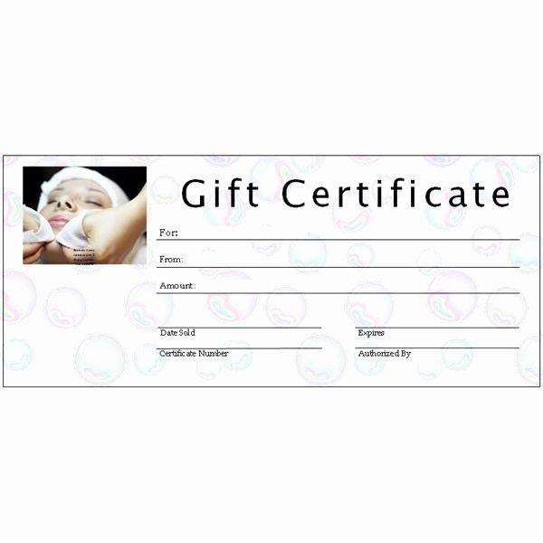 Spa Gift Certificate Template Beautiful 6 Free Printable Gift Certificate Templates for Ms Publisher