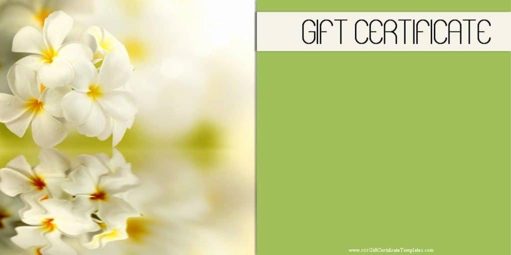 Spa Gift Certificate Template Beautiful Spa Gift Certificates 101 Gift Certificate Templates