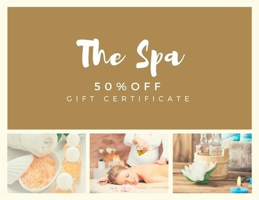 Spa Gift Certificate Template Lovely Customize 131 Spa Gift Certificate Templates Line