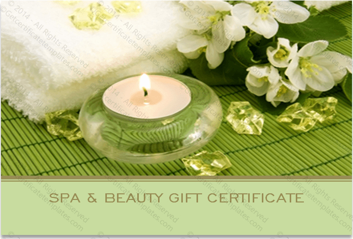 Spa Gift Certificate Template Lovely Two Sided Spa Gift Certificate Template