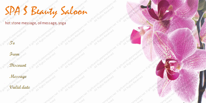 Spa Gift Certificate Template Luxury Business T Certificate Template