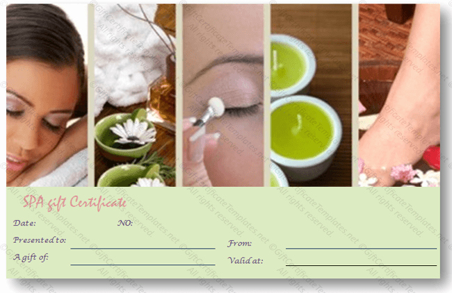 Spa Gift Certificate Template New Gift Certificate Templates