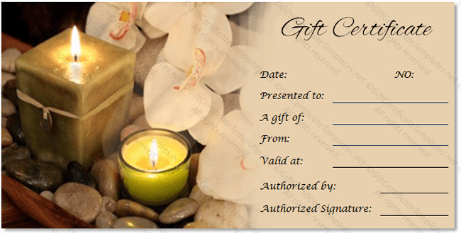 Spa Gift Certificate Template New Spa Gift Certificate Templates