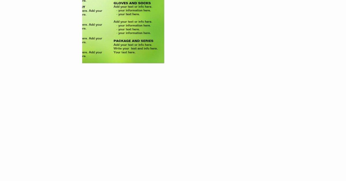 Spa Menu Template Free Lovely Spa Massage Salon Service Menu Brochure Template