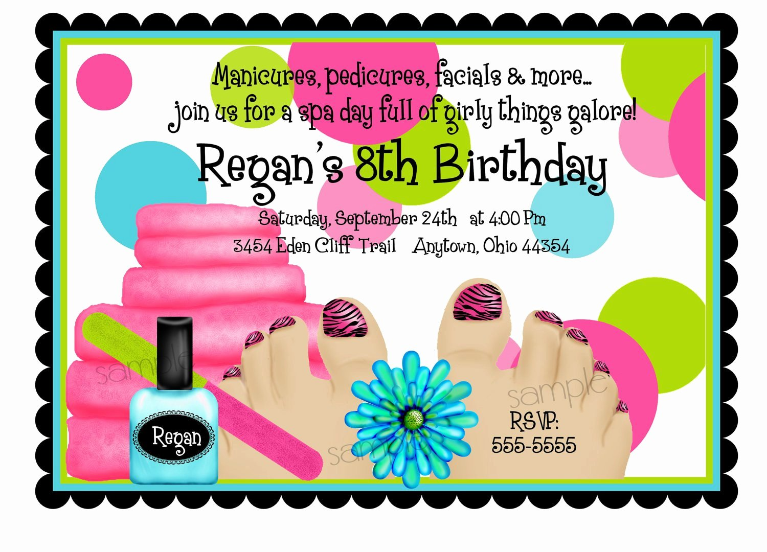 Spa Party Invite Template Best Of Spa Birthday Party Invitations Spa Party by