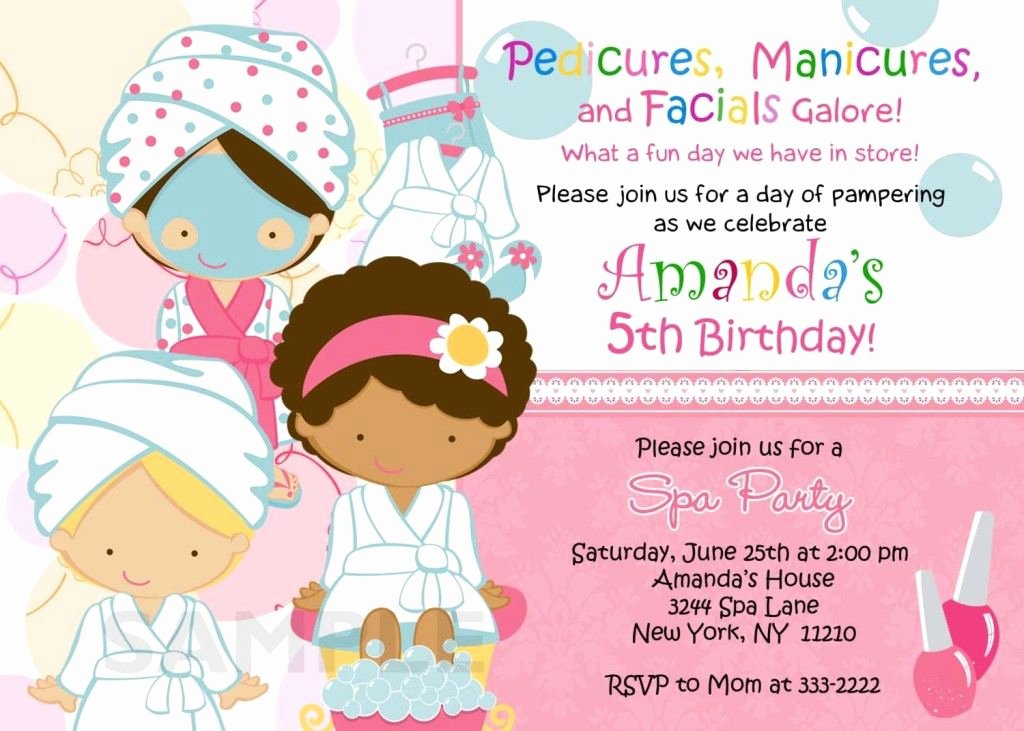 Spa Party Invite Template Elegant Spa Birthday Party Invitations Printables Free