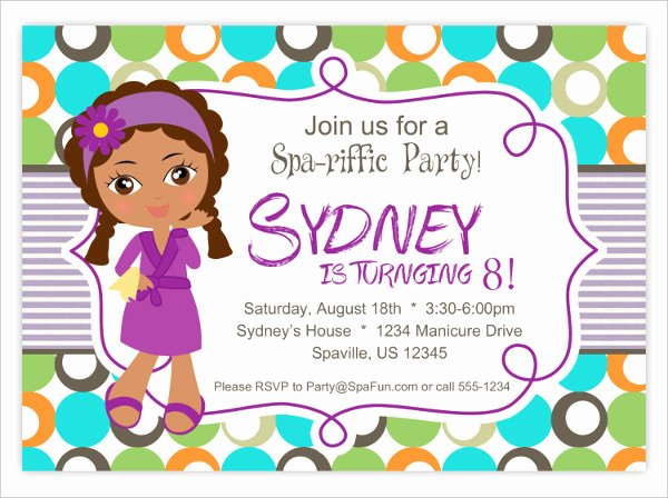 Spa Party Invite Template Fresh 7 Spa Party Invitation Designs & Templates Psd Ai
